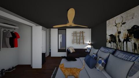 chambre de boubou - Masculine - Bedroom - by mininoemie