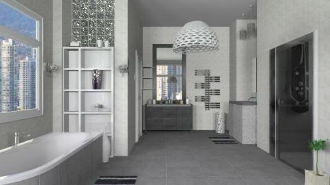 Grey - Modern - Bathroom - by milyca8