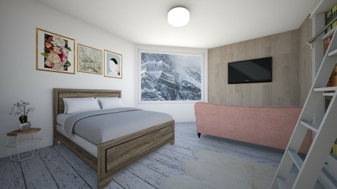 wooden interior - Bedroom - by Kylie Gallant