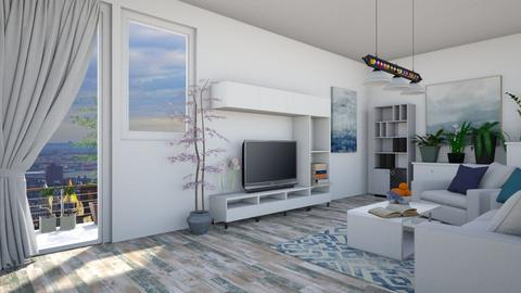 white calm - Modern - Living room - by colorful_eye