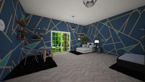 Geometric Bedroom - Minimal - Bedroom - by Complete_Cookie