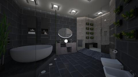 Grey Bathroom - Bathroom - by CassW