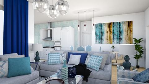 Blue Design 2 - Living room - by Starry Eyed Loser