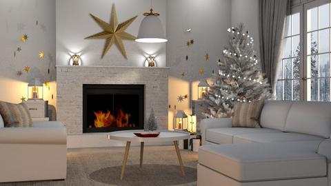 Christmas Stars - Living room - by GraceKathryn