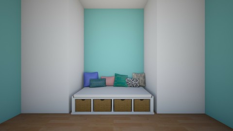Turquoise Seas - Bedroom - by Ruby Starling