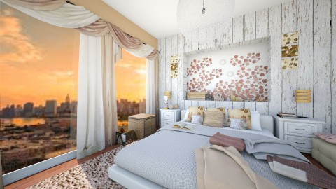 Golden leaves - Classic - Bedroom - by Bee0196