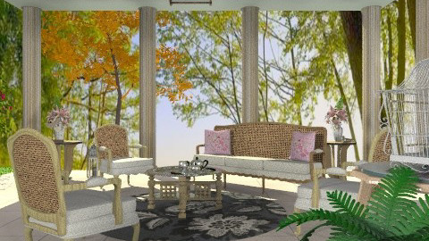 Terrace - Country - Garden - by Open Spaces