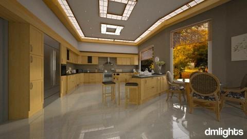 Cozinha Madeira Iluminada - Kitchen - by Roberta Coelho