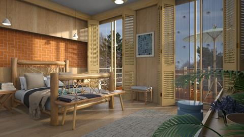 Orange Bricks2 - Bedroom - by ZuzanaDesign