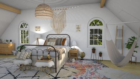 boho bedroom - Bedroom - by waibelmackenzie
