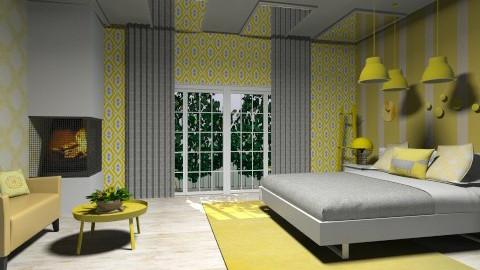 cheesy - Retro - Bedroom - by aduropluvia