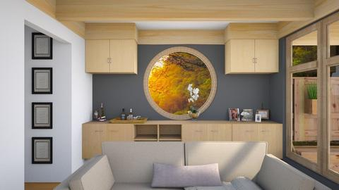 Circle Window Living Room - by savannahp0562