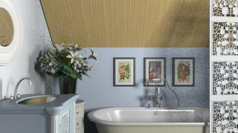 Blue bath - Classic - Bathroom - by Laurika