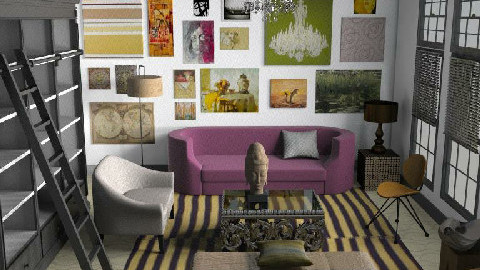 For a reader and artist - Classic - Living room - by toadfool