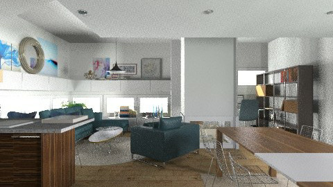 Artsy loft with central firepl. - Eclectic - by ovchicha