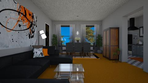 Orange - Living room - by allday08