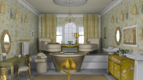 Gold bath - Glamour - Bathroom - by alleypea