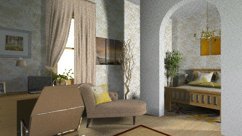 Beige and brown room - Country - by eszti
