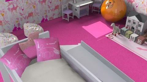 Little girls room - Glamour - Kids room - by Betija Muizniece