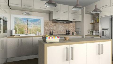Almond - Modern - Kitchen - by Bibiche