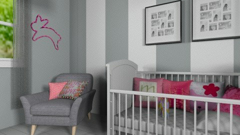 grey and pink - Modern - Kids room - by bethcot