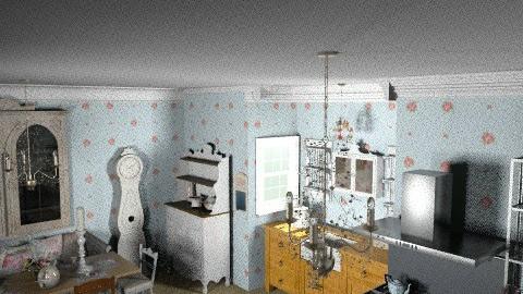 shabby chic kitchen - Vintage - Kitchen - by mywishlr