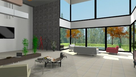 Modern House - Modern - Living room - by nikanarbut