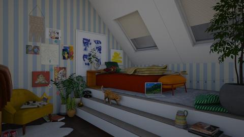 an art teens bedroom - Eclectic - Bedroom - by meganlizz