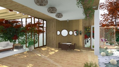 forest living room - Country - Garden - by camidome