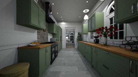 Galley Kitchen - Classic - Kitchen - by GIANNI VANCOMPERNOLLE
