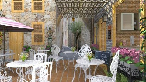 Coffee Shop - Rustic - Garden - by Bibiche