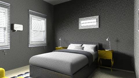 Industrial bedroom - Modern - Bedroom - by coccinelledu28