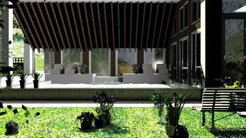 Mountain house: Exterior and Garden. - Country - Garden - by Your well wisher