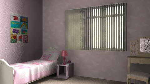 pink butterfly bedroom for little girl - Feminine - Bedroom - by chelsiemia