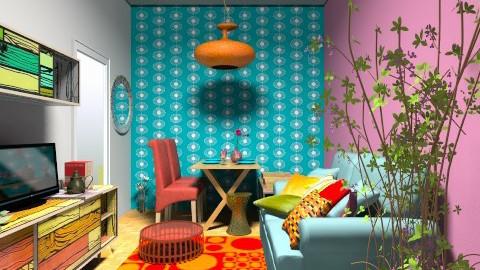 colourfull - Living room - by jujulianamara