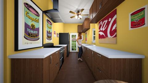 Narrow Kitchen - Kitchen - by SammyJPili