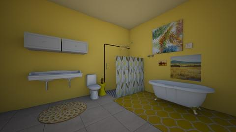 Yellow bathroom contest - Bathroom - by Crazy cat girl 10