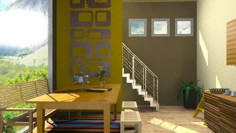 space of kitchen  - Glamour - Kitchen - by sahfs