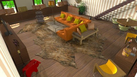 1950s  apartment - Retro - Living room - by nico3