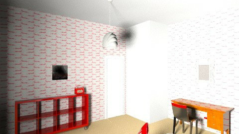 red and grey  - Bedroom - by estelle9