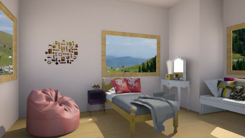 pink bedroom - Classic - Kids room - by AnaZderic