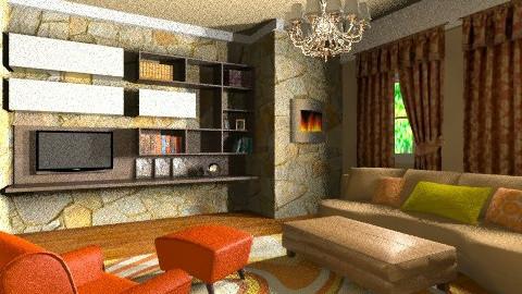 Great Brown Room - Eclectic - Living room - by wiljun