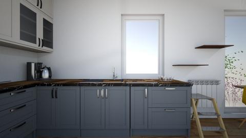Salon kuchnia ZIELEN - Living room - by Steefy