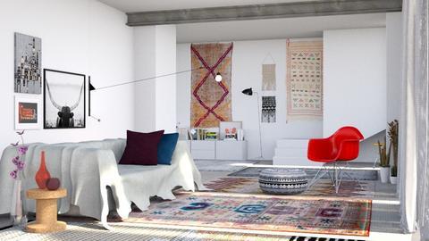 living room modern boho - by bnu