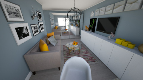 Dunaiskiy 33 living - Living room - by Alpie