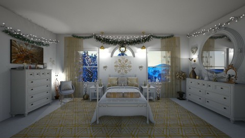 Christmas Bedroom  - Classic - Bedroom - by Kelly Carter