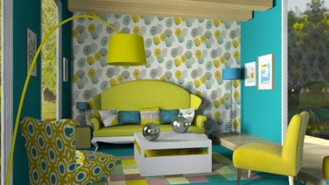 Kick Back - Retro - Living room - by camilla_saurus