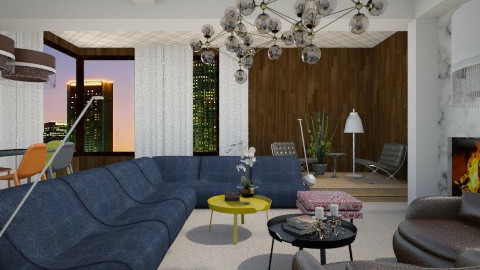 The Seventies Vibe - Retro - Living room - by 3rdfloor