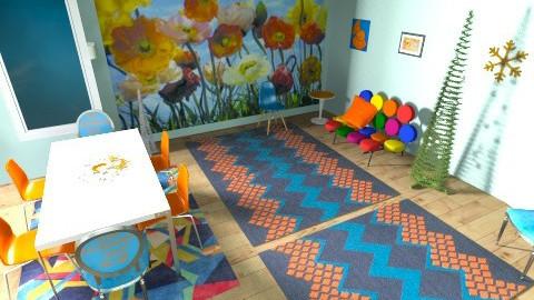 orange passion - Retro - Living room - by jazzmineherzig