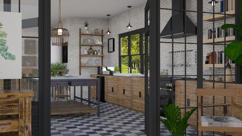 kitchen with sunroom - by minervinoi